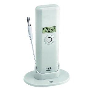 TFA 30.3313 czujnik temperatury bezprzewodowy z wodoszczelną sondą zewnętrzną linii PRO WeatherHub Smart Home