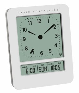 TFA 60.2530 budzik zegar biurkowy z termometrem i kalendarzem w języku polskim