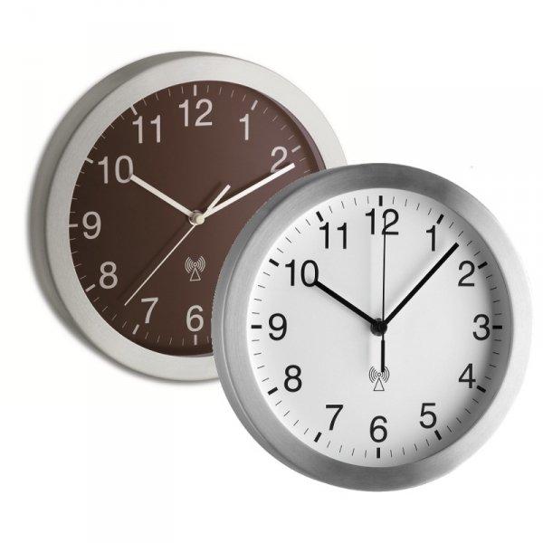 TFA 98.1091 zegar ścienny wskazówkowy sterowany radiowo aluminiowy 25 cm