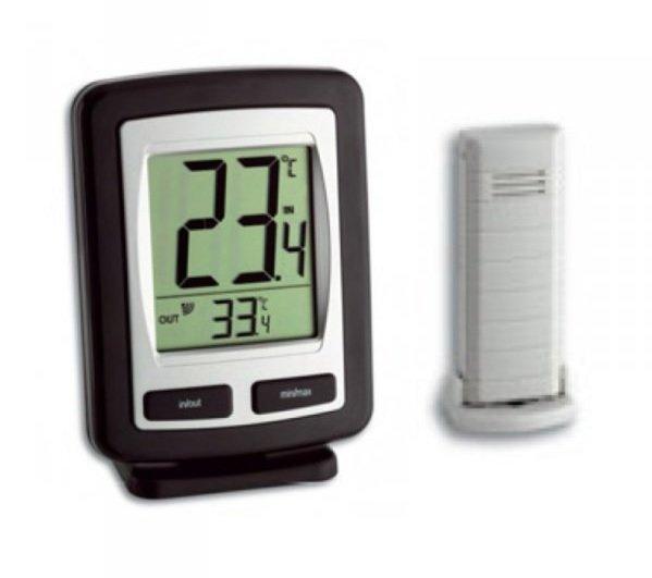 Termometr bezprzewodowy TFA 30.3040 ZOOM z czujnikiem zewnętrznym błyskawiczna transmisja