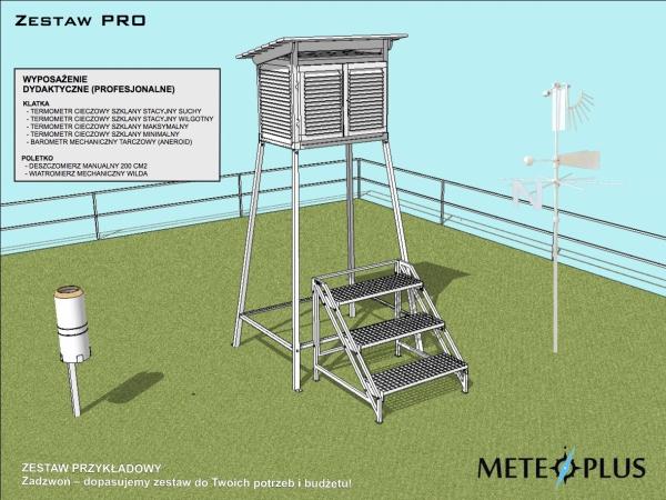 Ogródek meteorologiczny dydaktyczny szkolny edukacyjny MeteoPlus PRO