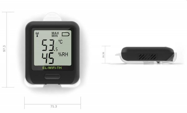 Rejestrator temperatury i wilgotności internetowy Corintech EL-WiFi-TH data logger WiFi, IP, Ethernet
