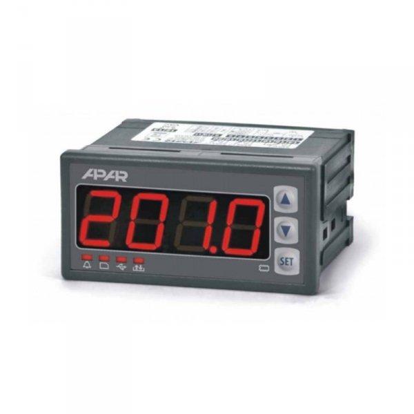 APAR AR201 rejestrator uniwersalny temperatury i sygnałów analogowych wyświetlacz 20 mm tablicowy 96x48 mm