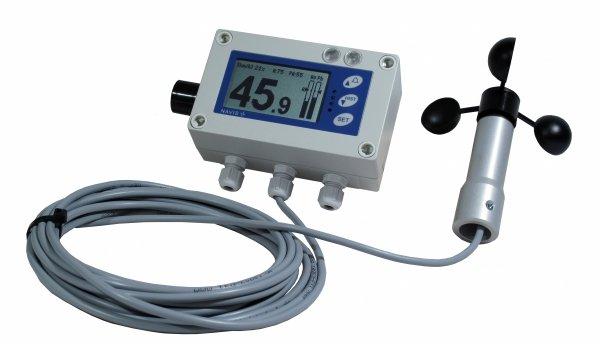 Wiatromierz sygnalizacyjny przewodowy Navis Y410 anemometr mechaniczny wyjście przekaźnikowe alarm dźwiękowy i wizualny