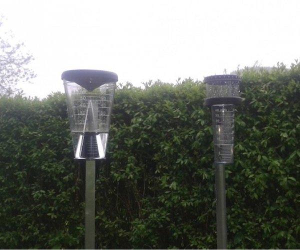 TFA 47.1008 deszczomierz plastikowy manualny 70 mm tradycyjny duży z pokrywą lejkową
