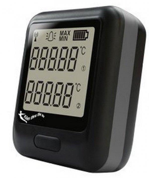 Rejestrator temperatury dwukanałowy internetowy Corintech EL-WiFi-DTP+ data logger WiFi, IP, Ethernet z 2 sondami termistorowymi
