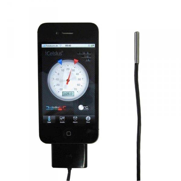 TFA 30.3507 iCELSIUS czujnik temperatury termometr przewodowy do smartfonu iOS