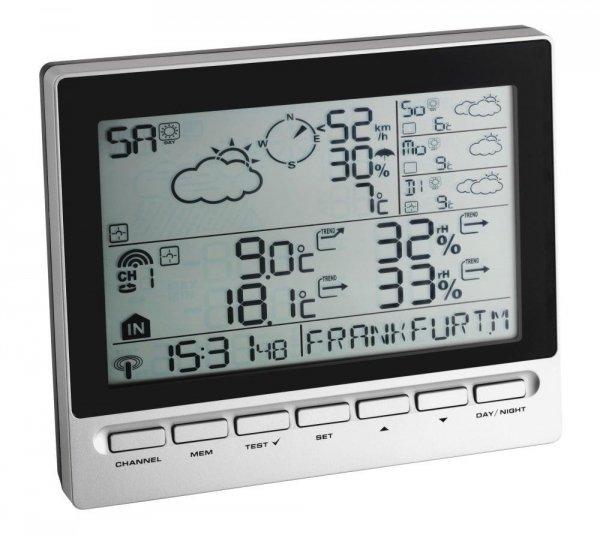 Stacja pogody bezprzewodowa TFA 35.1127 METEOTIME INFO z czujnikiem zewnętrznym z prognozą pogody radiową