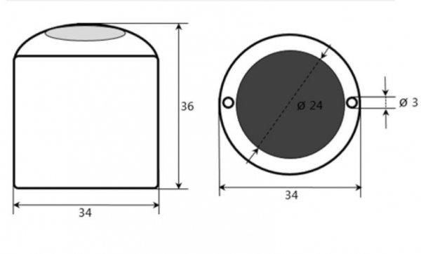 Czujnik nasłonecznienia fotodiodowy PM Ecology SSR1D pyranometr analogowy