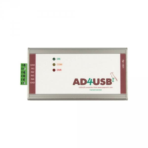 Konwerter, przetwornik analogowo - cyfrowy A/C Papouch AD4USB analog do USB