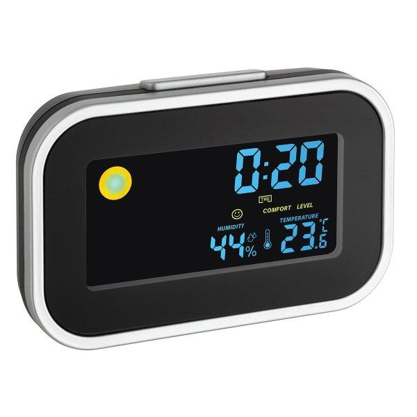 TFA 60.2015 budzik biurkowy zegar elektroniczny z termohigrometrem