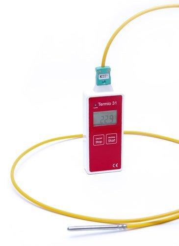 Rejestrator temperatury TERMIO-31 data logger termometr termoparowy typu K