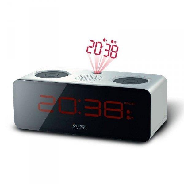 Oregon RRA320 budzik biurkowy zegar elektroniczny z projektorem i radiem