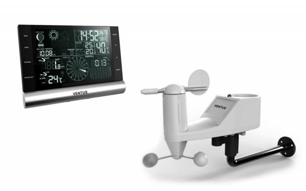 Ventus W820 stacja pogody bezprzewodowa Bluetooth zewnętrzna wiatr, opady