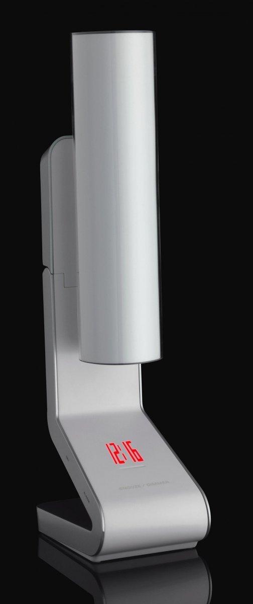 TFA 60.5004 LIGHT TUBE budzik biurkowy zegar elektroniczny sterowany radiowo z termometrem i projektorem