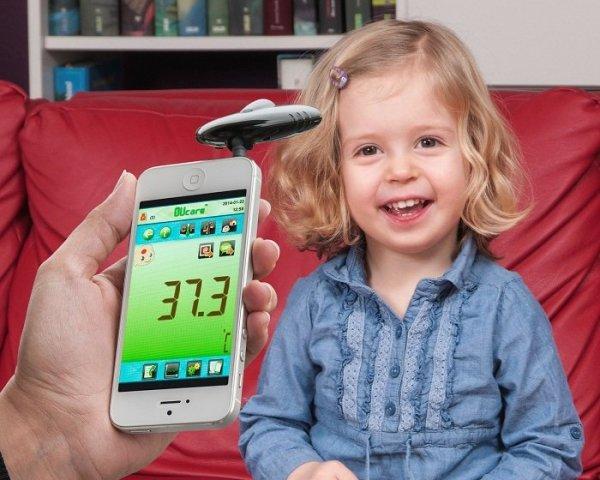 TFA 31.1133 czujnik temperatury bezkontaktowy pirometr termometr do smartfonu lekarski
