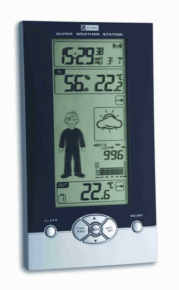 Stacja pogody bezprzewodowa TFA 35.1085 STUDIO z czujnikiem zewnętrznym