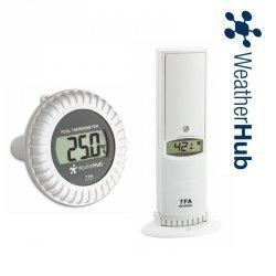 TFA 30.3310 czujnik temperatury i wilgotności bezprzewodowy z czujnikiem basenowym temperatury wody do WeatherHub