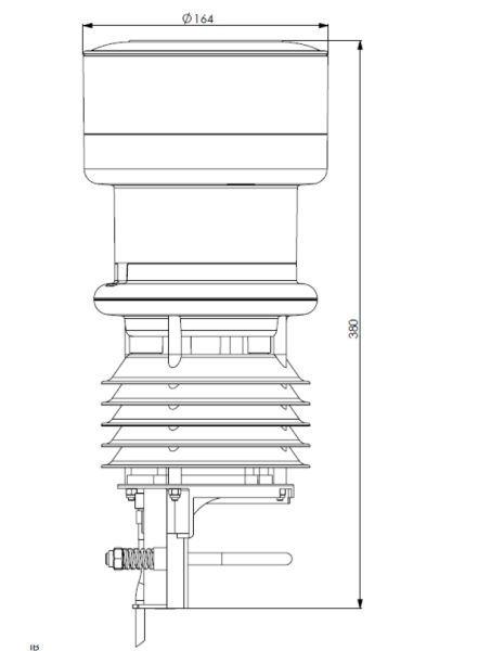 Lufft WS401 kompaktowa stacja meteorologiczna stacja pogodowa przemysłowa Modbus