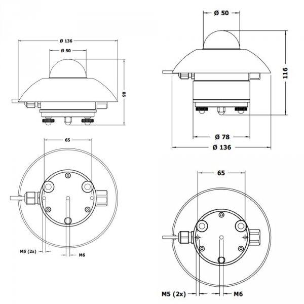 Hukseflux SR11 czujnik promieniowania całkowitego pyranometr ISO 9060 First Class