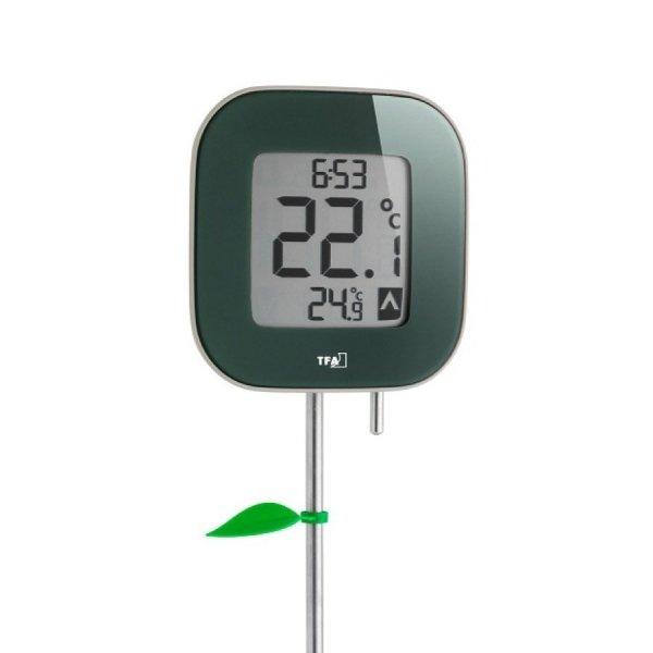 TFA 30.2029 FIORA termometr ogrodowy elektroniczny z zegarem duży 79 cm