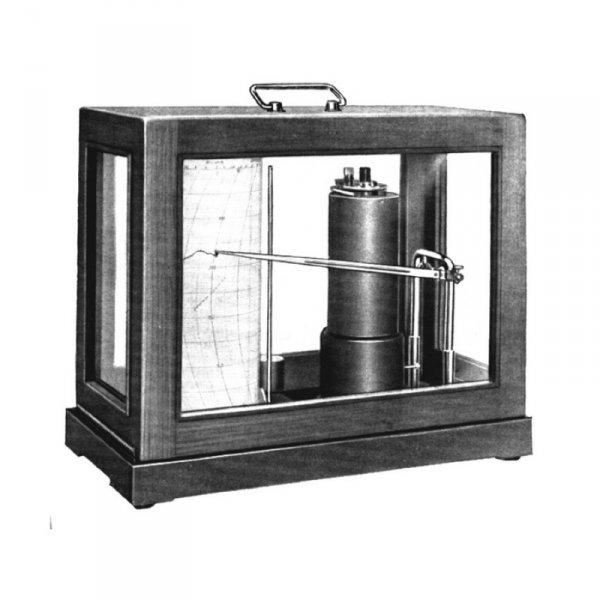 Dr.Müller-R.Fuess 78m mikrobarograf mechaniczny profesjonalny tradycyjny aneroid