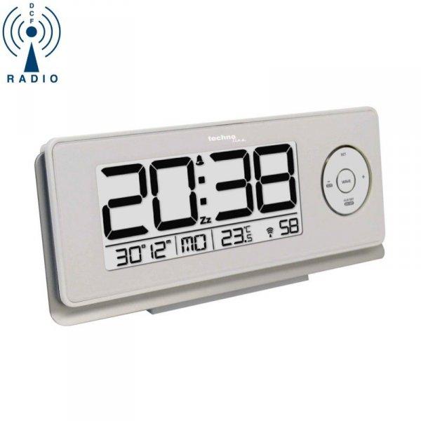 TechnoLine WT 498 budzik biurkowy  zegar elektroniczny sterowany radiowo z termometrem