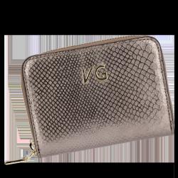 Skórzany Portfel Damski VITTORIA GOTTI Made in Italy VG003MG Stare Złoto