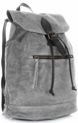 Plecak Skórzany VITTORIA GOTTI Made in Italy 80022 Szary