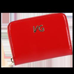 Skórzany Portfel Damski VITTORIA GOTTI Made in Italy VG004MG  Czerwony