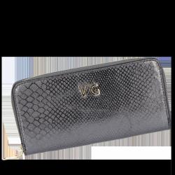Skórzany Portfel Damski VITTORIA GOTTI Made in Italy VG003DG Iron