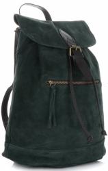 Plecak Skórzany VITTORIA GOTTI Made in Italy 80022 Butelkowa Zieleń