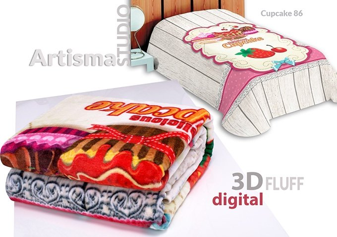 Koc 3D 155x220 cm Cupcake 86