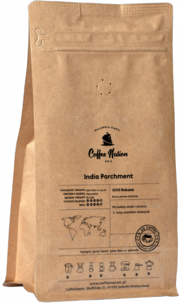 INDIA PARCHMENT 500g  -100% Robusta