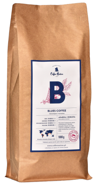 BLUES COFFEE  1000g Arabika+Robusta