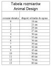 ANIMAL DESIGN Derka Czarno-Czerwona rozmiar 10 50cm