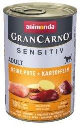 Animonda Gran Carno Sensitiv Indyk + ziemniaki 400g