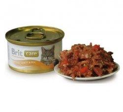 Brit Care Cat Tuńczyk Marchewka z groszkiem puszka 80g