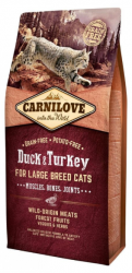 Carnilove Adult Cat Duck & Turkey Large Breed 6kg