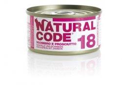 Natural Code Cat 18 Mackerel and ham 85g