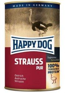 6x Happy Dog Strauss Puszka 100% Struś 400g