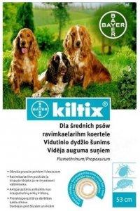 BAYER KILTIX Obroża przeciw pchłom i kleszczom dla średnich psów 53cm