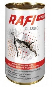 Rafi Pies Classic Wołowina w sosie 1240g