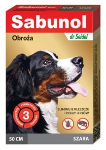 DermaPharm Sabunol GPI Obroża przeciw pchłom dla psa szara 50cm