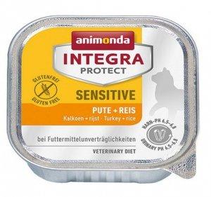 Animonda Integra Protect Sensitive dla kota - z indykiem i ryżem tacka 100g