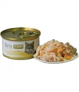 Brit Care Cat Pierś Kurczaka i Ser puszka 80g