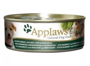 Applaws Dog puszka z kurczakiem, wątrobą wołową i warzywami 156g