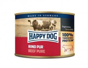 6x Happy Dog Rind Puszka 100% Wołowina 200g