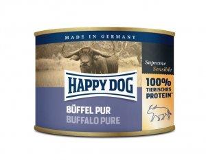 6x Happy Dog Buffel Puszka 100% Bawół 200g