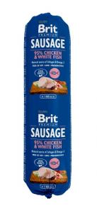 BRIT SAUSAGE CHICKEN & WHITE FISH 800G